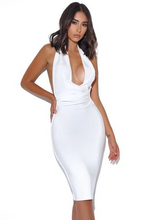 Load image into Gallery viewer, Marilyn White Halter Dress