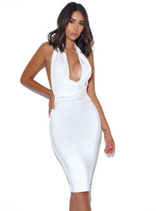 Marilyn White Halter Dress