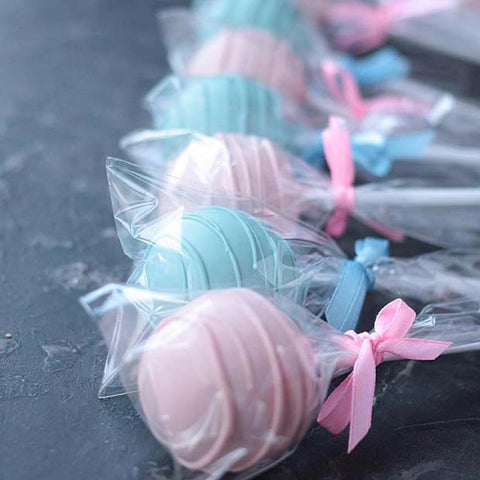 Blue and Pink Cake Pops Gender Reveal Party Idea