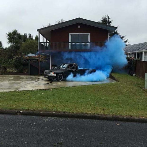 Gender Reveal Smoke Party Idea