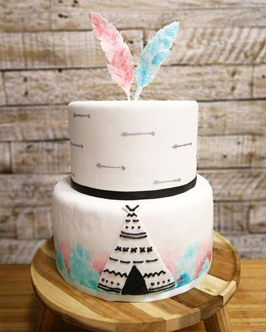 Gender Reveal Cake Party Idea
