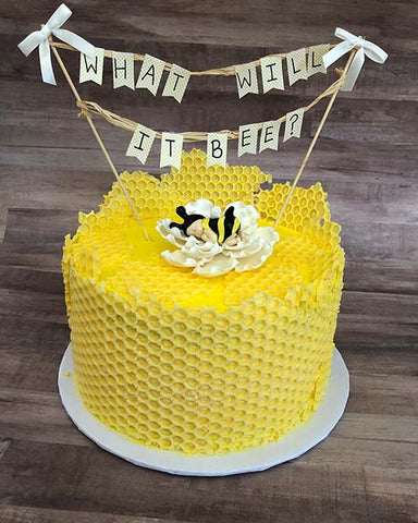 Gender Reveal What Will it Bee Cake Idea