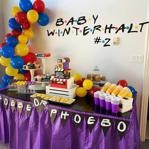 Gender Reveal Friends Theme Party Idea