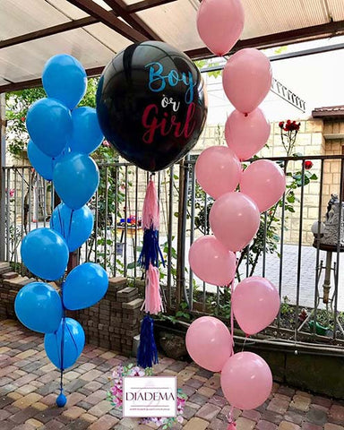Gender Reveal Balloon Party Idea