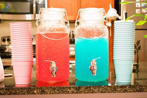Gender Reveal Pink and Blue Drinks