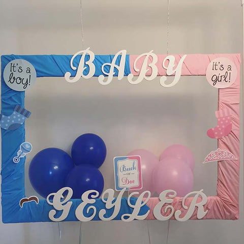 Gender Reveal Pink or Blue Photo Booth
