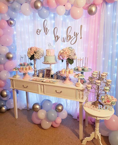 Gender Reveal Pretty Party Decoration Idea