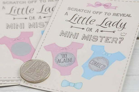 Gender Reveal Scratch Card Party Game
