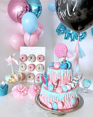 Sweet Pink and Blue Party Decoration Idea