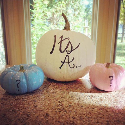 Gender Reveal Pumpkin Idea