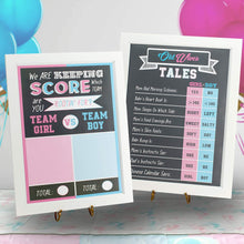 Load image into Gallery viewer, Gender Reveal Poster Games & Scoreboard