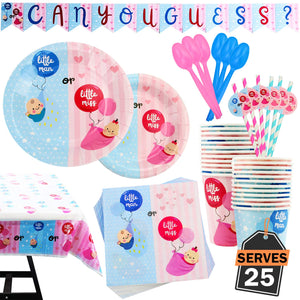 Gender Reveal Partyware Supply Kit
