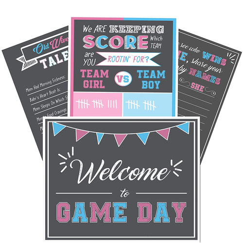Gender Reveal Poster Games & Scoreboard