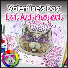 Load image into Gallery viewer, Valentine's Day Art Project, Cat