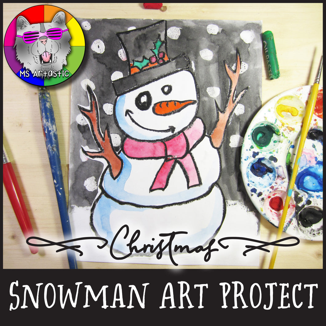Christmas Art Project, Snowman