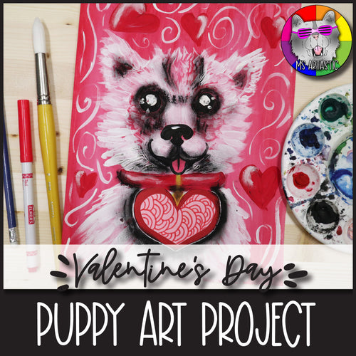 Valentine's Day Art Project, Puppy Love