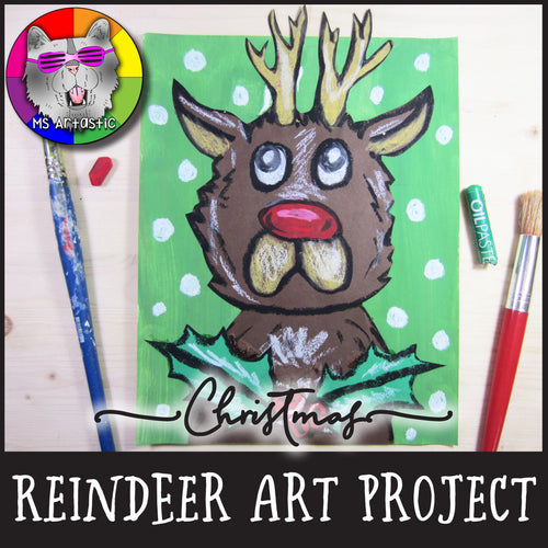 Christmas Art Project, Reindeer