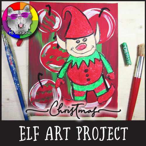 Christmas Art Project, Mixed Media Elf