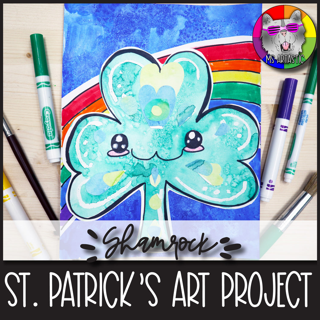 St. Patrick's Day Art Project, Cute Shamrock