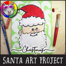 Load image into Gallery viewer, Christmas Art Project, Santa