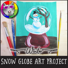 Load image into Gallery viewer, Winter Art Project, Snow Globe