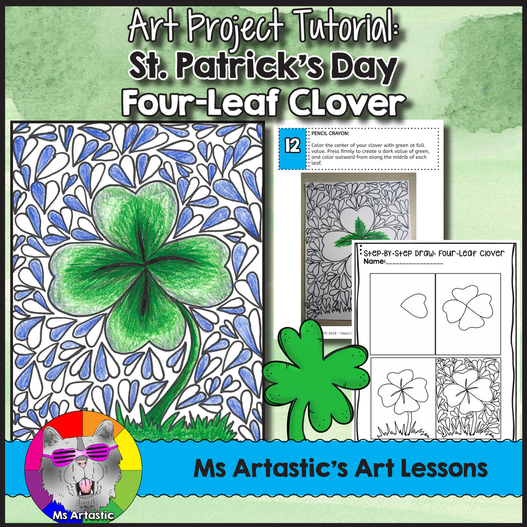 St. Patrick's Day Art Lesson, Four-Leaf Clover