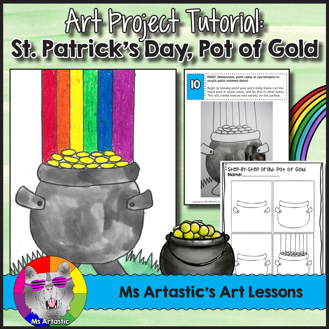 St. Patrick's Day Art Lesson, Pot of Gold