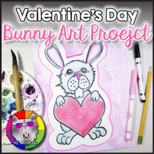 Load image into Gallery viewer, Valentine's Day Art Project, Bunny