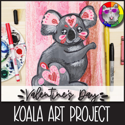 Valentine's Day Art Project, Koala Bear