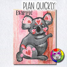 Load image into Gallery viewer, Valentine's Day Art Project, Koala Bear