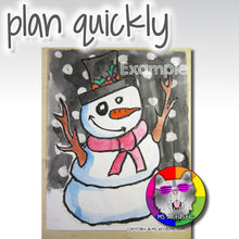 Load image into Gallery viewer, Christmas Art Project, Snowman