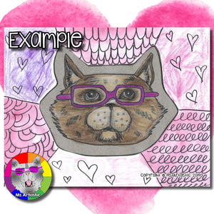 Valentine's Day Art Project, Cat