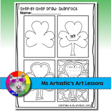 Load image into Gallery viewer, St. Patrick's Day Art Project, Shamrock Zen Doodle