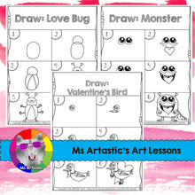 Load image into Gallery viewer, Valentine's Day Directed Drawing