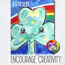 Load image into Gallery viewer, St. Patrick's Day Art Project, Cute Shamrock