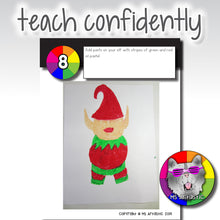 Load image into Gallery viewer, Christmas Art Project, Mixed Media Elf
