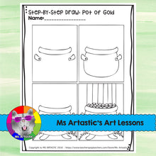 Load image into Gallery viewer, St. Patrick's Day Art Lesson, Pot of Gold