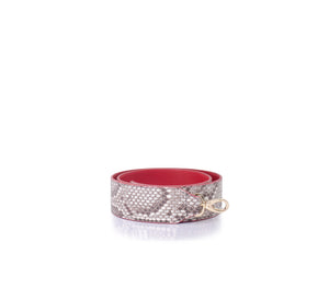 Python Leather Strap Red