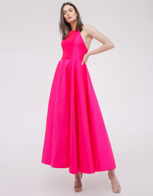 Breena Dress Fuschia