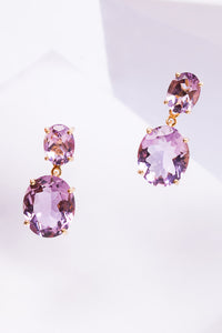 Louise Drop Earrings Oval