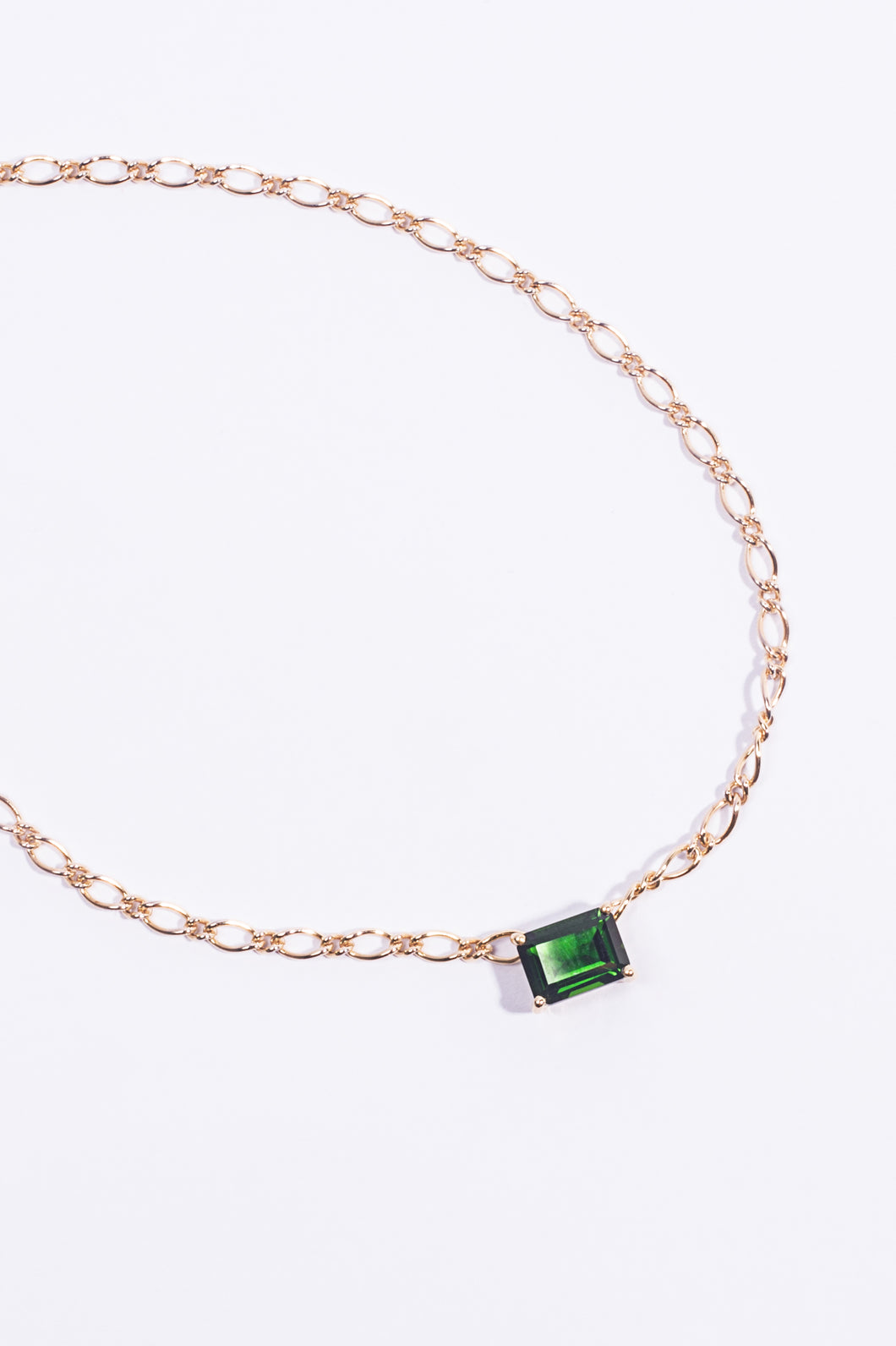 Riviera Necklace Green Diopside