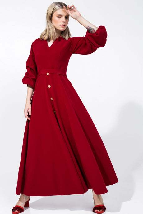 Alex Dress Maroon