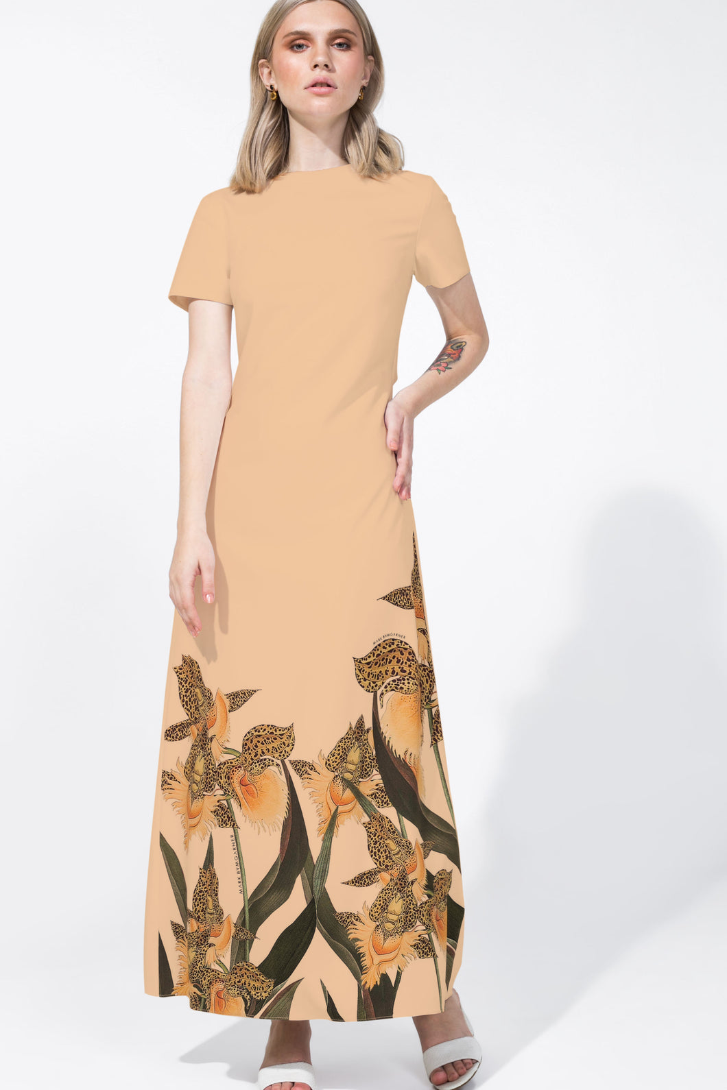 Amira Dress Printed Nude