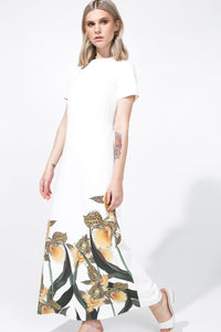 Amira Dress Printed White