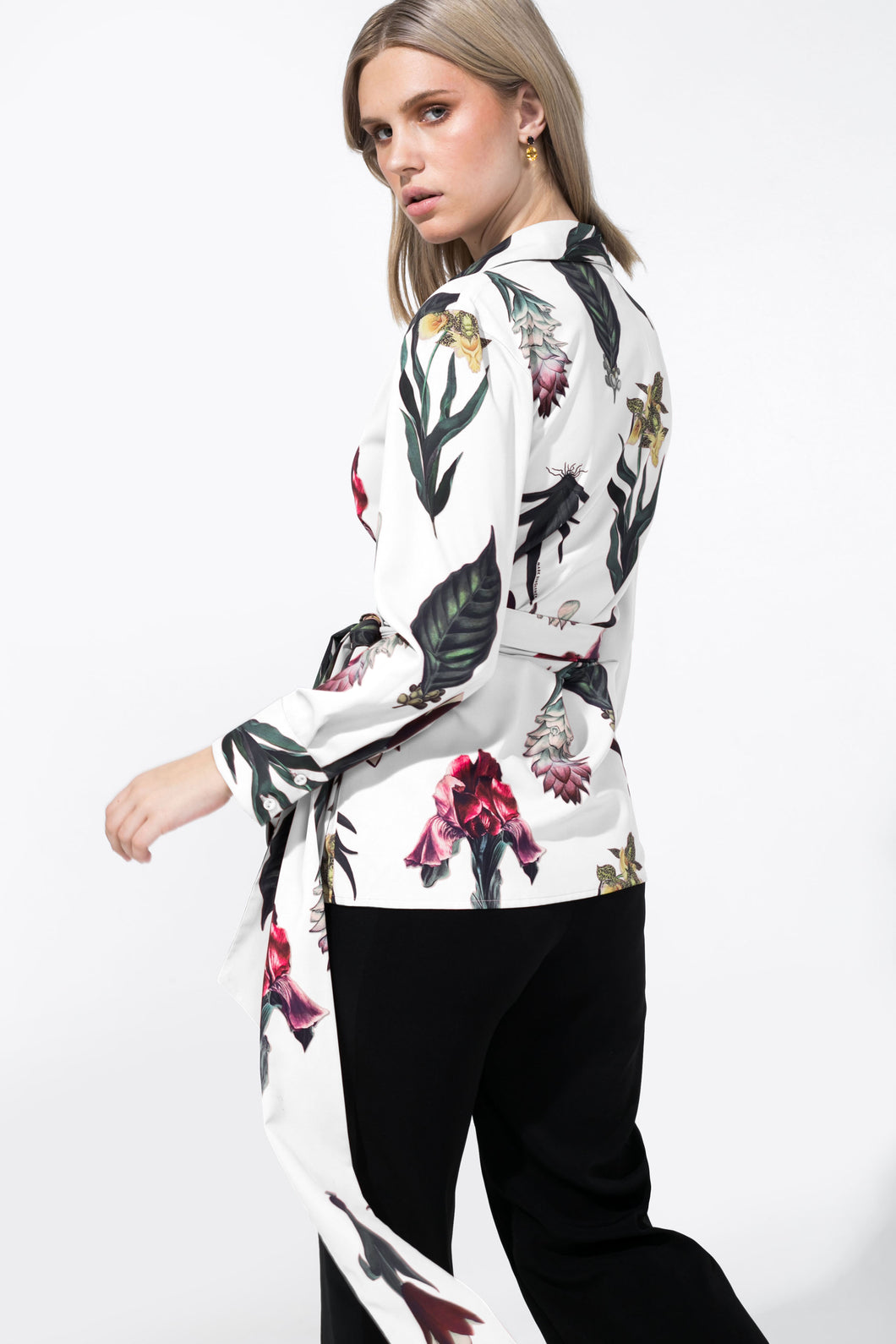 Adrie Top Printed White
