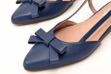 Load image into Gallery viewer, Isabella Sling Flats Navy