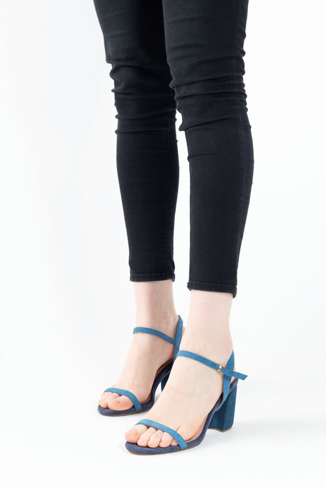 Michelle Python Strappy Sandals Tealnavy