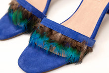 Load image into Gallery viewer, Willow Feather Fringe Sandals Royalblue