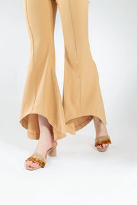 Willow Feather Fringe Sandals Nude