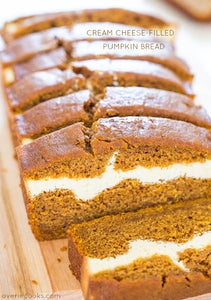 Pumpkin Cream Cheese Bread — This is without a doubt the BEST pumpkin bread recipe! This pumpkin cream cheese bread tastes like it has cheesecake baked into the middle